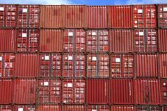 Stack of container Stock Image
