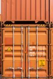 Stack of container ship yard. Stock Photography