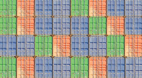 Stack of container shipping Stock Image