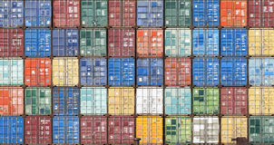 Stack of containers Royalty Free Stock Photos