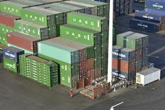 Stack of Containers, Harbour of Khor Fakkan, United Arab Emirates Stock Photography