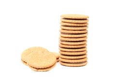 Stack of cookie biscuits with filling Stock Photography