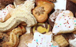 Stack of Cookies. Close-up image of a stack of various biscuits and cookies Stock Photo