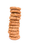 Stack of cookies. Isolated on white background stock image