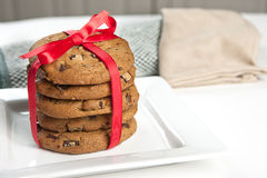 Stack of cookies. Royalty Free Stock Photography
