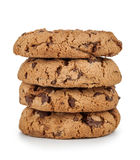 Stack of cookies with chocolate royalty free stock photography