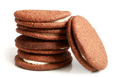 Stack of cookies with cream Stock Image
