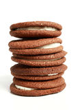 Stack of cookies with cream Royalty Free Stock Images