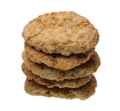 A stack of cookies, isolated Royalty Free Stock Photos