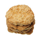 A stack of cookies, isolated Stock Photo