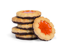 Stack of cookies isolated Stock Photography