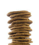 Stack of cookies isolated Stock Images
