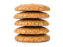 Stack of cookies isolated on white Stock Images