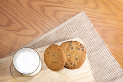Stack of cookies & milk Stock Photo