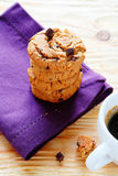 Stack of cookies on a napkin Stock Photography