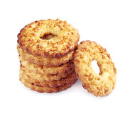 Stack of cookies with nuts Stock Image