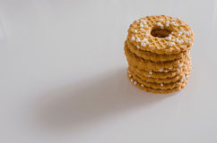 Stack of cookies with sprinkles Royalty Free Stock Photos