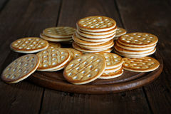 Stack of cookies on a  table Stock Images