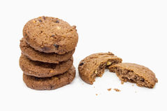 Stack of Cookies on the White Background. Stock Images