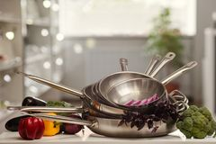 Kitchen utensils shop advertisement cooking Royalty Free Stock Image