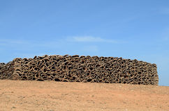 Stack of cork Royalty Free Stock Photos