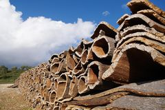 stack of cork layers royalty free stock images