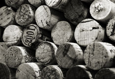 Stack of corks. Black and white stack of wine bottle corks Royalty Free Stock Images