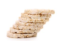 Stack of corn crackers. Close up. Royalty Free Stock Image