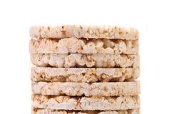 Stack of corn crackers. Close up. Stock Photos