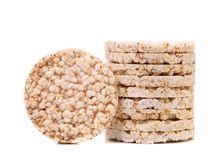 Stack of corn crackers. Royalty Free Stock Images