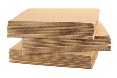 Stack Of Corrugated Board Royalty Free Stock Photos