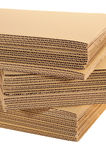 A Stack Of Corrugated Board Stock Image