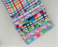 Stack of cotton quilting fabric Stock Image