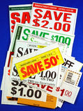 Stack of coupons Royalty Free Stock Photo