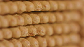 Stack of Cracker. Camera movement from top to bottom stock video footage