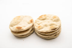 Stack of cracker lay on  background. Stack of cracker made from starch on  background Stock Images