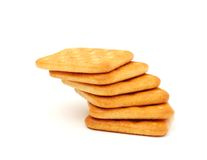 Stack of cracker on white background Stock Image