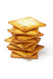 Stack of crackers Royalty Free Stock Photography