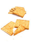 Stack of crackers Royalty Free Stock Photos