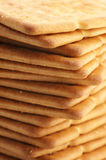 Stack of crackers close-up Royalty Free Stock Photo