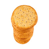 Stack Of Crackers Closeup Royalty Free Stock Photography