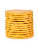 Stack of crackers Stock Photo