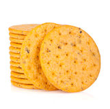 Stack of crackers Stock Image