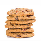 Stack of cranberry oatmeal raisin cookies Stock Image