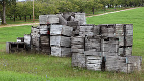 Stack of Crates Stock Image