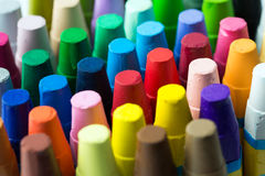 Stack of crayon Royalty Free Stock Images