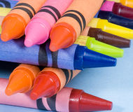 Stack of crayons Royalty Free Stock Photo