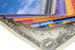 Stack of Credit Cards Stock Image