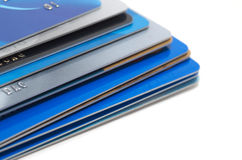 Stack of credit cards Royalty Free Stock Photos