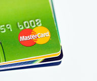 Stack of credit cards by MasterCard Royalty Free Stock Photo